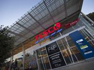 Tesco store with poppy