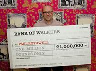 Paul Rothwell with cheque