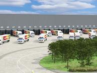 aldi lorries distribution centre cardiff
