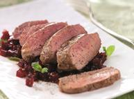 Lamb Cannon of Lamb with beetroot relish