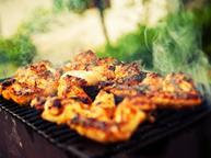 Chicken on barbecue one use