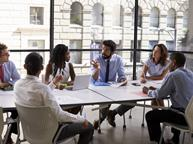 meeting in office business discussion