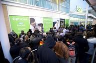 QUEUES OUTSIDE: Crowds of excited shoppers wait outside the Asda store in Wembley for the highly anticipated Black Friday sales. This years offers are 3 x times bigger and better than last year, with double the number of ranges on offer in 441 of its stor