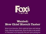 Fox's biscuit taster advert