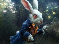 easter white rabbit one use