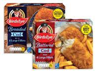 Birds Eye breaded cod fillets