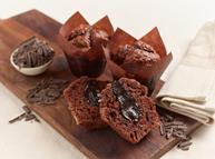 flower and white gluten free muffins