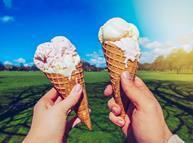 Ice creams in sunshine
