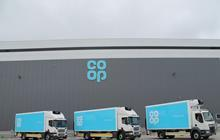 co-op food redistribution lorries