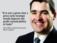 Clive Black opinion quote_Asda