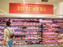 Morrisons Butcher fresh meat aisle