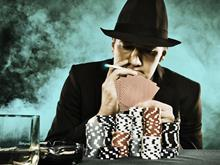 smoking poker player single