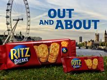 Ritz Crackers advert london buscuits