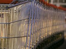 Supermarket trolleys stacked together_generic