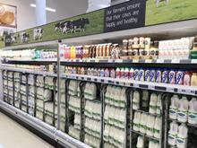 Tesco milk aisle