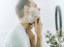Shaving man web male grooming