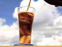 Pouring Coca Cola