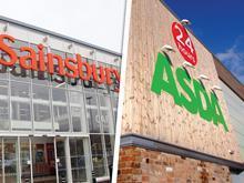Asda and Sainsbury's merger composite shot