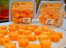 tesco childrens veg butternut squash stars