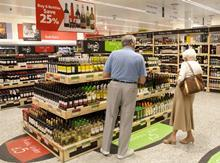 Morrisons wine section