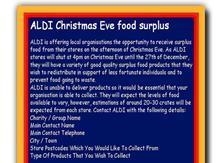 aldi food surplus poster