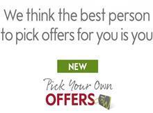 Waitrose pick your own offers logo slogan