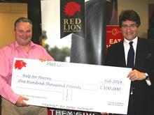 Red Lion Help for Heroes cheque