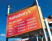 sainsbury's opening times sunday trading