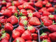 Strawberries in punnets