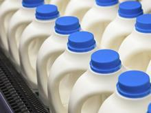 milk bottles, recycled plastic