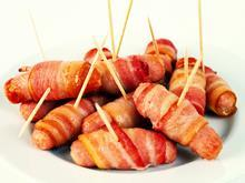 Bacon and sausages feature, pigs in blankets