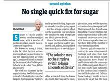 chris elliott article sugar