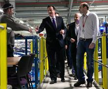 David Cameron at Ocado CFC