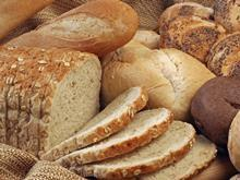 focus on bread, basket of bread