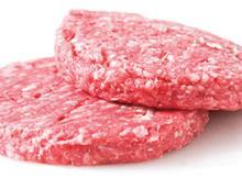 Raw meat burger