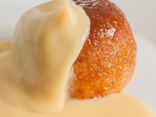 sponge pudding dessert custard