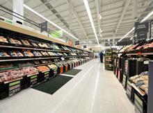 Asda produce aisle fruit and veg