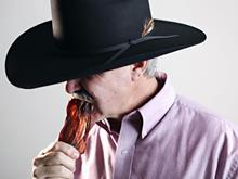 cowboy eating jerky