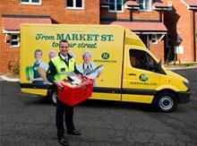 Morrisons van with Dalton Philips