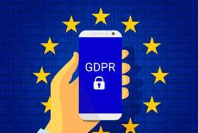 GDPR data legislation generic picture with mobile phone