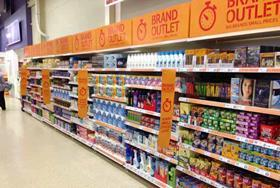 tesco pound zone aisle brand outlet shopping
