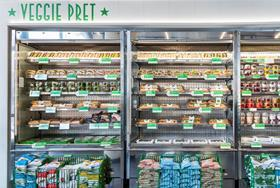 Veggie Pret shelves