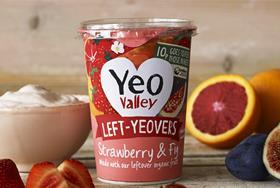 left yeovers yeo valley yoghurt