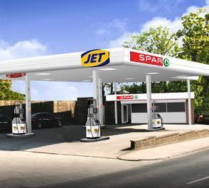 spar and jet garage forecourt