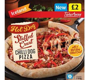 Iceland hot dog stuffed crust pizza