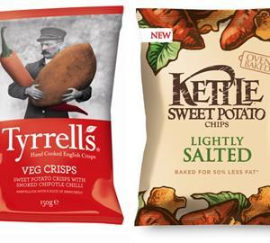 Kettle and Tyrells Sweet Potato Crisps