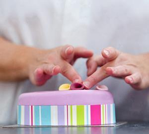 cake pink chef