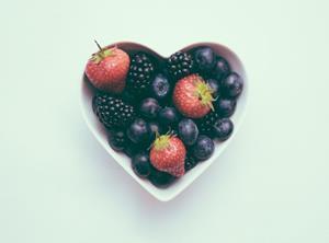fruit berries love heart