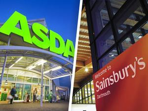 Asda Sainsbury's merger store composite