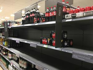 Coke shortage soft drinks out of stock co2
